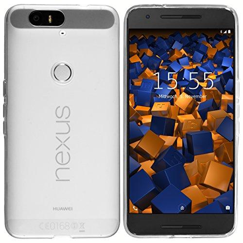 mumbi Hülle kompatibel mit Huawei Nexus 6P, klar weiß