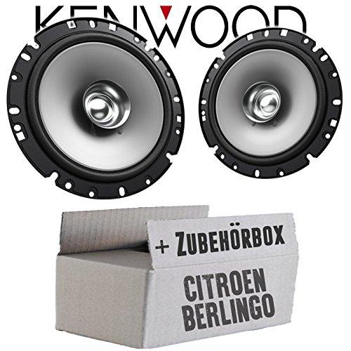 Lautsprecher Boxen Kenwood KFC-S1756-16cm Koax Auto Einbauzubehör - Einbauset für Citroen Berlingo 2 - JUST SOUND best choice for caraudio