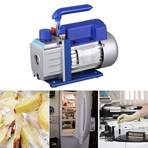 2.5CFM Vakuumpumpe Unterdruckpumpe,YIYIBY 220ml Oil einstufige Vakuum Pumpe vacuumpumpe 180W 1/4HP 220V