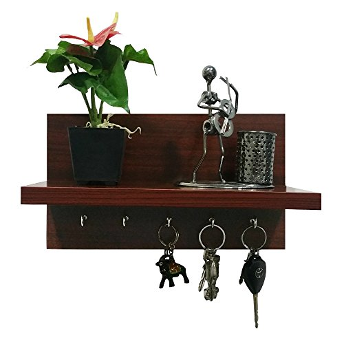 A10 Shop Omega 6 (Mahogany) Wall Mounted Decor Shelf with...