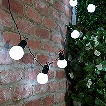 Guirlande guinguette solaire - Guirlande lumineuse guinguette exterieur ...