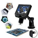Microscopio Digital Lcd 600X Zoom Microscopio de Detección Portátil con Grabación de Video de Cámara para Planta de Observación - Soporte De Ventosa