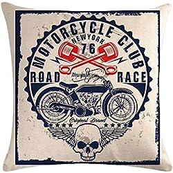KUSTOM FACTORY - Cojín de calavera moto vintage