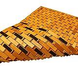 PV Bambus Duschmatte Badvorleger Badematte Holz rutschfest 50 x 80 cm