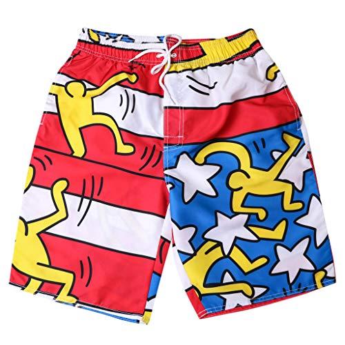 Pantalones Cortos Hombre Deporte ZARLLE Bañador Traje de Baño Pantalones Cortos para...