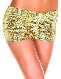 88626c9f78 Naliha Mutandine delle Paillettes delle Donne Elastiche Glitter  Abbigliamento Clubwear Dancewear Mini Hot Shorts