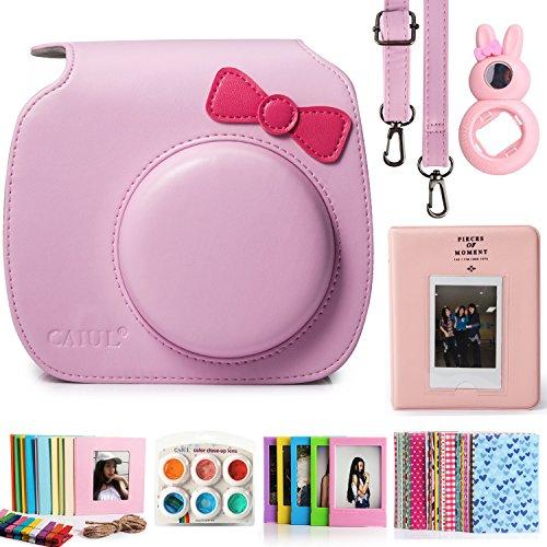 caiul-7-in-1-fujifilm-instax-mini-8-8-camera-accessories-bundles-pink-bow-knot-mini-8-case-mini-albu