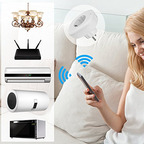 alexa wifi smart home steckdose eu stecker steckdose mit. Black Bedroom Furniture Sets. Home Design Ideas