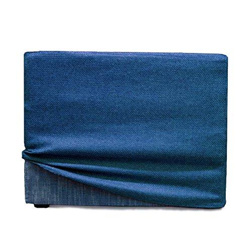 Arketicom fodera di rivestimento esterna per touf il letto che diventa pouf. color blue elettrico 63x63x45 cm