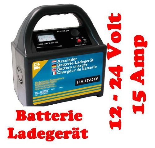 Preisvergleich Produktbild KFZ Batterieladegerät Batterielader Ladegerät 12V-24V 15 Amp