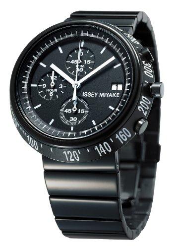 Issey Miyake - SILAZ001 - Montre Mixte - Quartz Chronographe - Bracelet Acier Inoxydable Noir