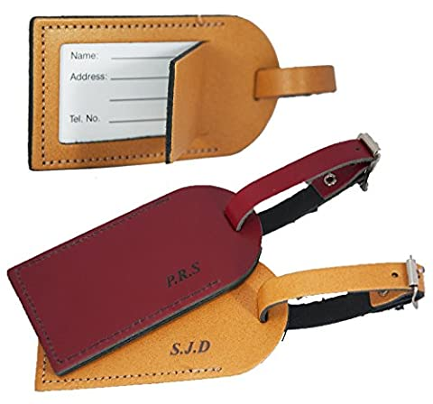 Personalised Luggage Tag for suitcases - British Genuine Leather -