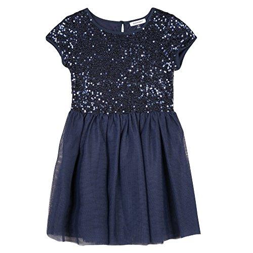 3 pommes Mädchen Kleid Robe, Blau (Marineblau), 4-5 Jahre