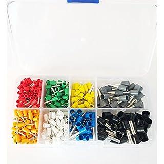 400 Aderendhülsen isoliert Set Box Sortiment Adernendhülsen 0,5mm - 6mm² Kabel