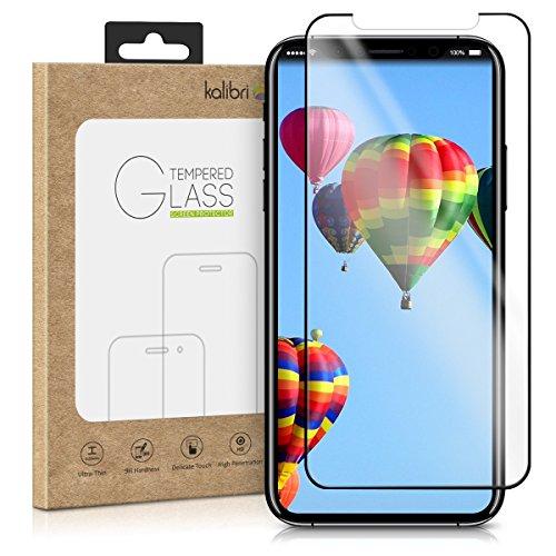 kalibri Echtglas Displayschutzfolie für Apple iPhone X - 0,2 mm Glas mit 9H Härtegrad Schutzfolie Panzerglas Schutzglas Glasfolie in kristallklar