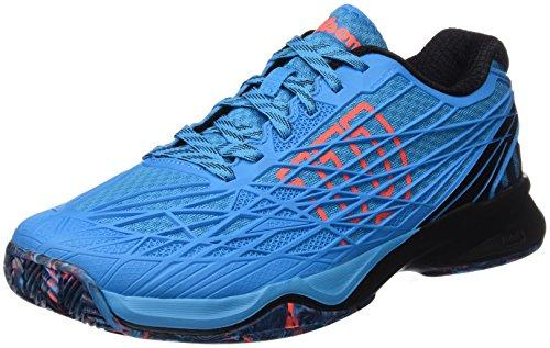 Wilson Rush Pro 2.0 Clay Court Clem, Zapatillas de Tenis Hombre, Azul (Hawaiian Ocean/Black/Fiery Coral), 41 EU