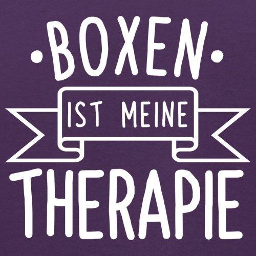Boxen ist meine Therapie - Herren T-Shirt - 13 Farben Lila