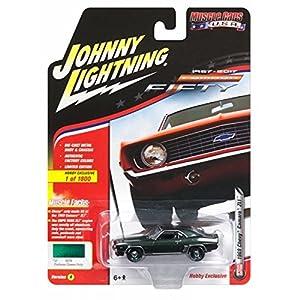 Johnny Lightning JLSP003A 1 1:64 1969 Chevy Camaro (50th Anniv), Color Verde