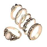#5: STRIPES EID Special 6 Piece Midi Finger Ring Set