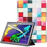 """Lenovo Tab 2 A10 / Tab3 10 Plus / Tab3 10 Business Funda - Carcasa Función Despertador / Reposo Automático para Lenovo Tab 2 A10-30 / A10-70 / Tab3 10 Plus / Tab3 10 Business 10,1"""" Tablet, Cubo Colore"""