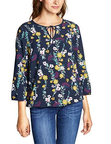 CECIL Damen 341579 Bluse, Mehrfarbig (deep Blue 30128), XX-Large (Herstellergröße:XXL)
