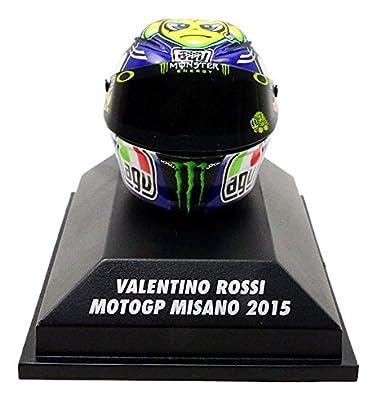 Minichamps–Helm Moto GP Misano 2015V. Rossi AGV Fahrzeug Miniatur, 398150096, Maßstab 1/8 von MINICHAMPS