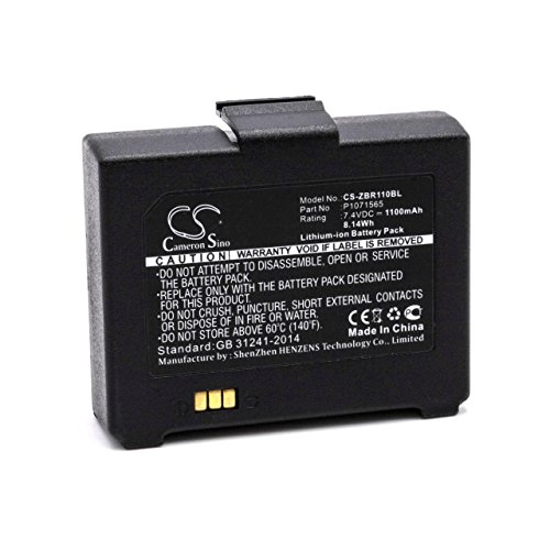 vhbw Li-Ion Akku 1100mAh (7.4V) für Drucker Kopierer Scanner Etiketten-Drucker Zebra ZQ110