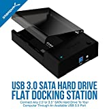 Sabrent Dockingstationen - USB 3.0 zu SATA externer Festplatte Lay-Flat-Dockingstation für 2,5 oder 3,5 Zoll HDD, SSD [Support UASP] (EC-DFLT)