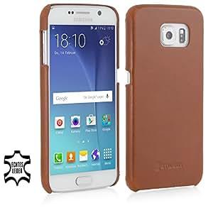 StilGut® étui Cover Type, coque, housse, étui en cuir pour Samsung Galaxy S6, en cognac