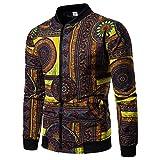 Sweatshirt Herren UFODB Männer Winterjacke Lange ärmel Fashion Drucken Zipper Pullover Sweatjacke Freizeitjacke Streetwear Sportmantel Outwear