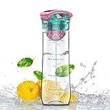 Best Botellas de infusión de frutas Deportes - Artoid 800ml Infusión de Frutas Botella de Agua Review