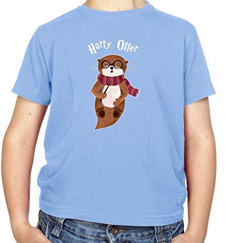 Harry Otter - Kinder Fun T-Shirt - Hellblau - L (9-11 Jahre)