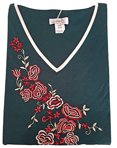 La Marquise - Chemise de nuit -  - À fleurs Femme taille unique vert sarcelle