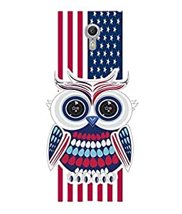 For Lenovo ZUK Z2 Pro-Livingfill- Patriotic owl Printed Designer Slim Light Weight Cover Case For Lenovo ZUK Z2 Pro(A Beautiful One of the Best Design with a Classic Theme & A Stylish, Trendy and Premium Appeal/Quality) (Red & Green & Black & Yellow & Other)