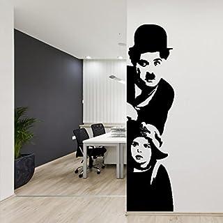 Adesiviamo 930-The Wall Mural Charlie Chaplin: Monello Wall Sticker Vinyl Decal Sticker prespaziato Vinyl Wall Art design furniture and walls