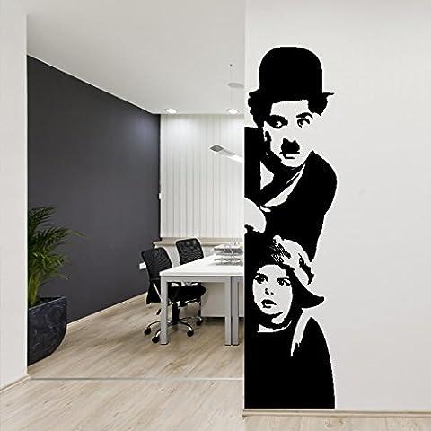 Adesiviamo 930-L Adesivo murale Charlie Chaplin: Il Monello Wall Sticker Vinyl Decal adesivo prespaziato in vinile design arredamento per decorazione pareti e muri