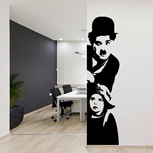 Preisvergleich Produktbild adesiviamo – 930-m Selbstklebende der Wand: Charlie Chaplin-Design-Vinyl pre-espaciado von der Wand Deko-Vinyl-Sticker-Golfschläger für der Stoßstange für Wände und Mauern