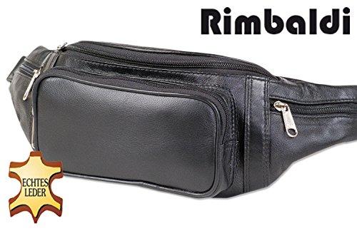 Rimbaldi-Grande-poche-frontale-offre-amplement-despace-par-une-poche-avant-supplmentaire-fabriqu--partir-de-cuir-souple-Nappa-de-haute-qualit-en-noir