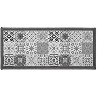 Déco Tapis Rectangle, Polyester, Gris, 80 x 150