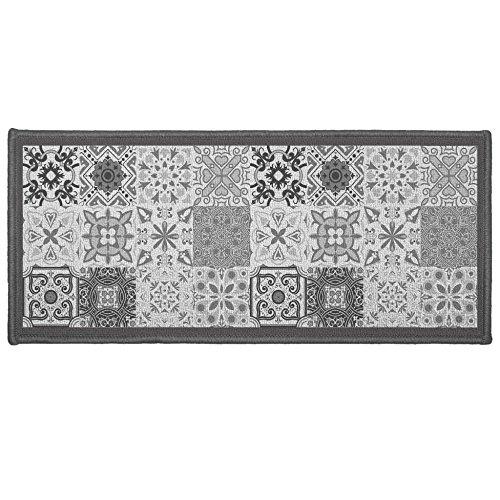 Déco Tapis Tapis Déco Rectangle, Polyester, Gris, 50x120 cm