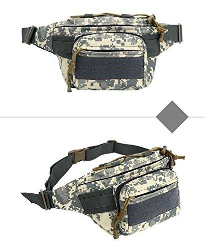 &zhou Kleine Taschen für Verwendung im Freien reiten Männer und Frauen kombiniert Geldbörsen Bewegung Schulter Umhängetasche black