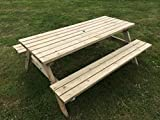 5FT PICNIC TABLE - COMMERCIAL STYLE & QUALITY - HEAVY DUTY - NATURAL