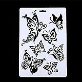 DIY Craft Schmetterling Schablonen Schablone malen Scrapbooking Briefmarken Album New