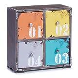 Zeller, Scarpiera 'loft', 4 cassetti 13984 MDF 265 x 13 x 275 cm, Multicolore (Mehrfarbig)
