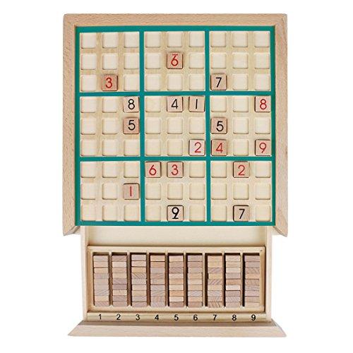 Andux Zone Holz Sudoku Brett Spiele Mit Schublade SD-02 (Grün) - Sammlung Bleistift Schublade