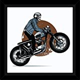 IT2M 13 Inches Designer Framed Printed Motor Bike Poster With Acrylic Glass Cover (3285F)
