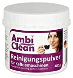 AmbiClean Reinigungspulver für Kaffeemaschinen, 480 g ★ Gründlich ★ Geschmacksneutral ★ Schnell | Reiniger mit Aktivsauerstoff für Kaffeevollautomaten | Kaffeefettlöser für Espresso-Maschinen