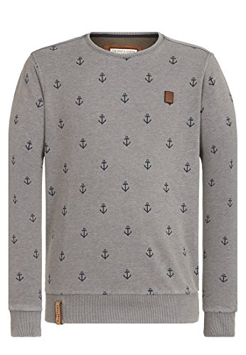 Naketano Male Sweatshirt Rise Of An Enemy III Heritage Dark Ash Melange