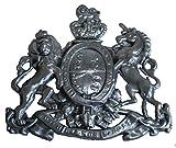 Brass Blessing Messing Segen, Antik-Stil, Heavy Cast Royal Crest Safe Teller–Best Collection (5124)