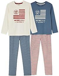 VERTBAUDET Lote de 2 Pijamas niño combinables